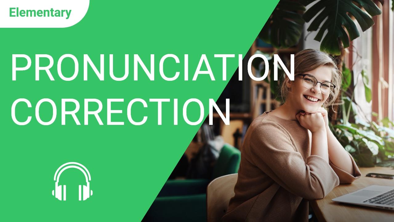 Pronunciation Correction