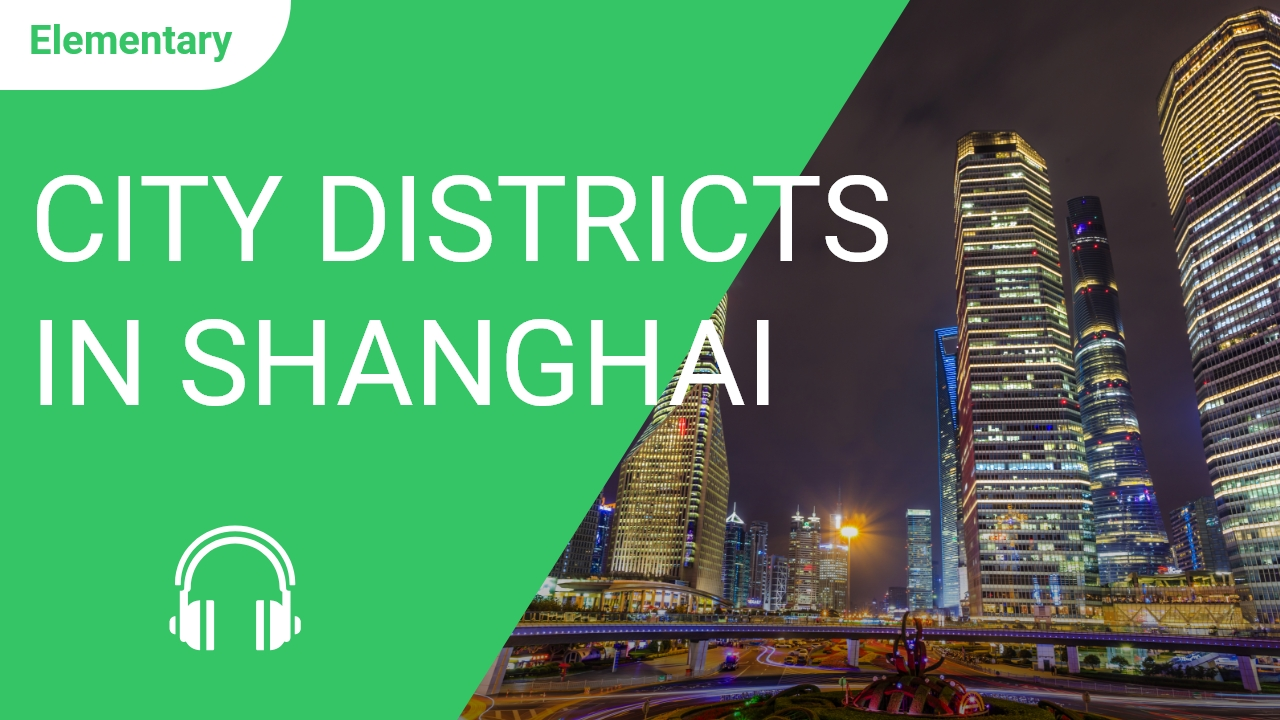 City Districts in Shanghai
