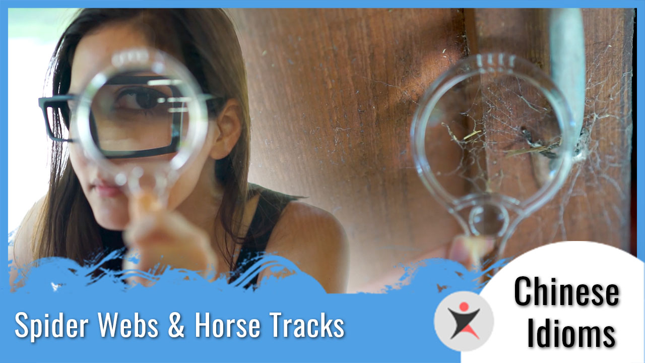 Chinese Idioms - Spiderwebs and Horse Tracks