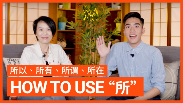 "How to use ""所""──""所""的用法"