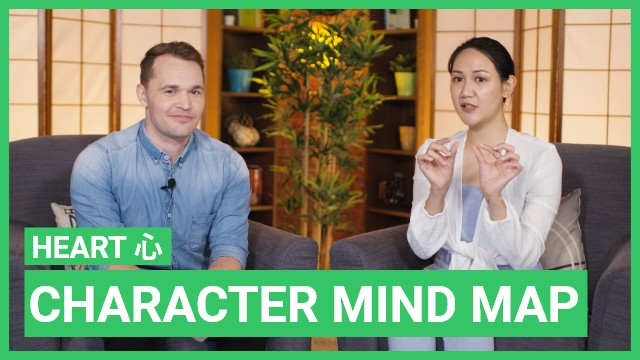 Character mind map: 心 heart