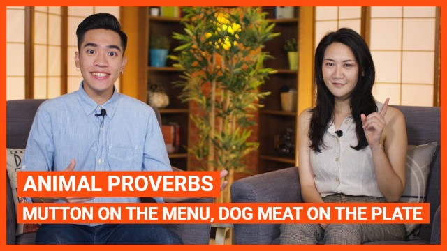Animal proverbs: Mutton on the menu, dog meat on the plate
