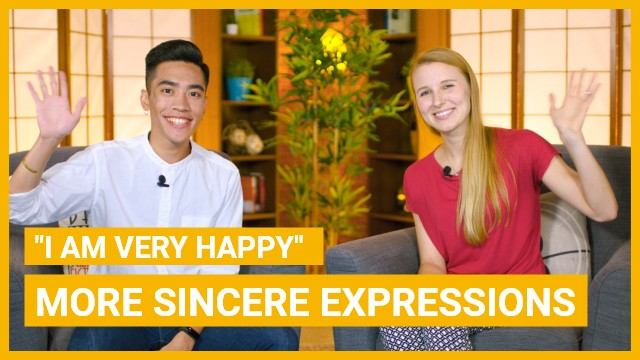 How to use sincere expressions in Chinese