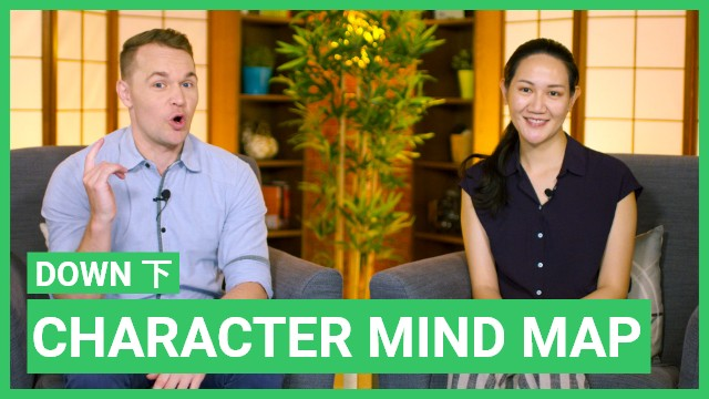 Character mind map:下 down