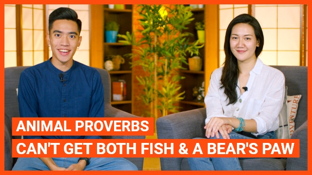 Animal Proverbs: Can't get both fish and a bear's paw