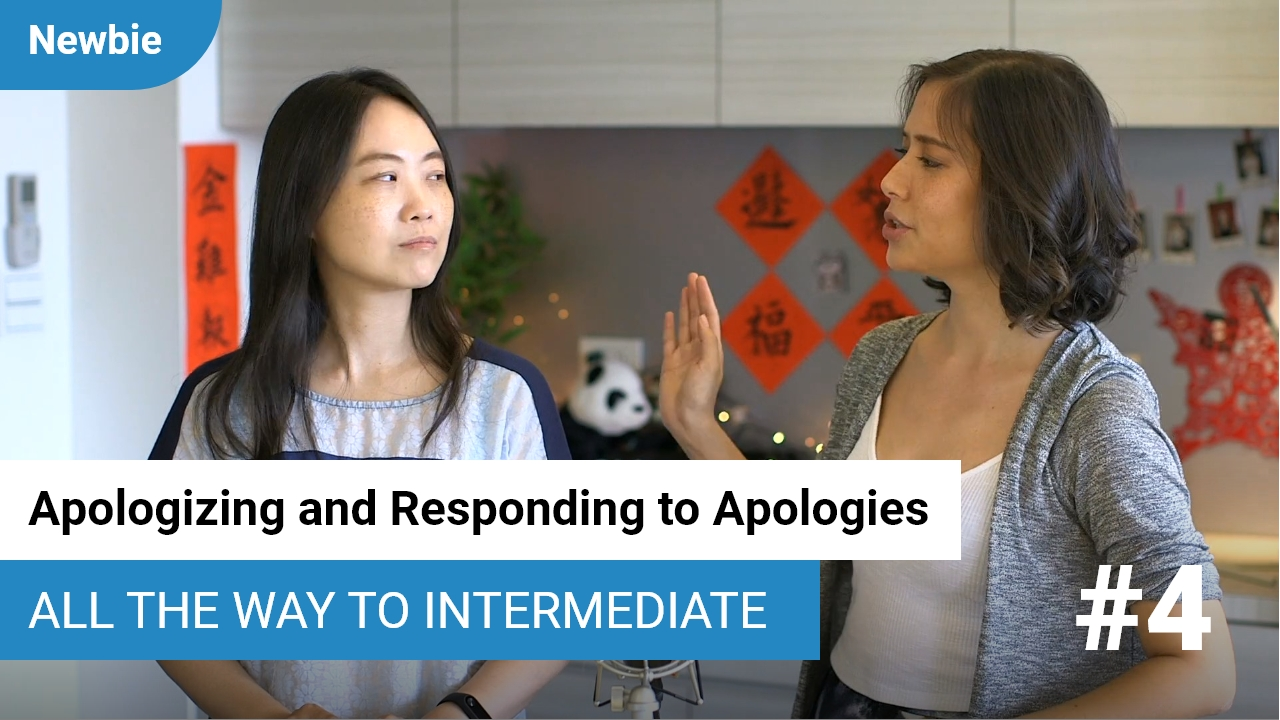 Apologizing and Responding to Apologies