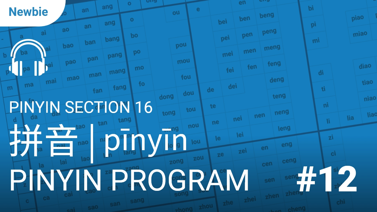 Pinyin Section 16